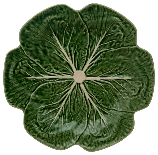 Cabbage Dinner Plate, Set of 4, Green