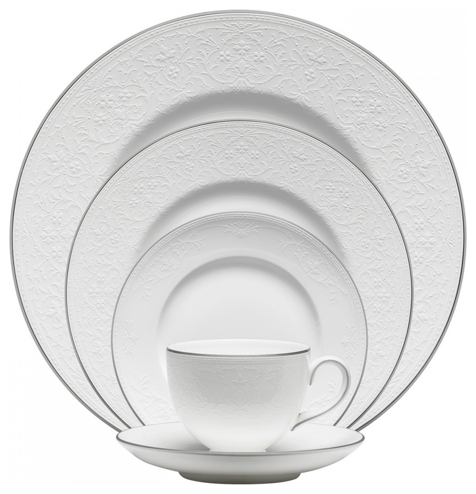 Wedgwood English Lace 40 Piece China Set Traditional Dinnerware Sets By Unique Gifts
