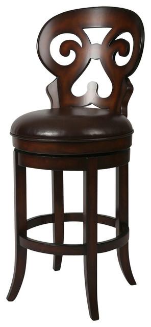 Pastel Hermosa Barstool - Russet Cordovan - Stallion Brown Seat - 26 Inch