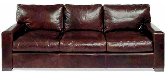 Brilliant Napa Leather Sofa Brompton Cocoa 90 Ncnpc Chair Design For Home Ncnpcorg