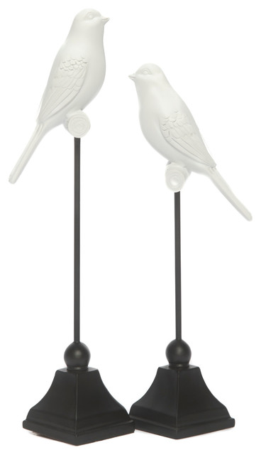 White Bird Decorations, 2-Piece Set