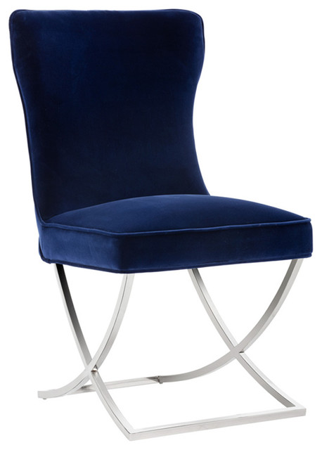 Maia Dining Chair, Set Of 2, Navy.