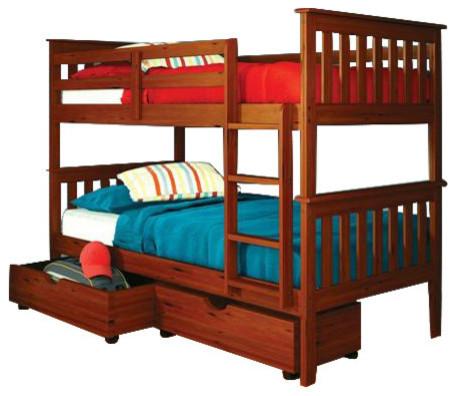 bunk beds for kids with underbed storage transitional kids beds by custom kids furniture. Black Bedroom Furniture Sets. Home Design Ideas
