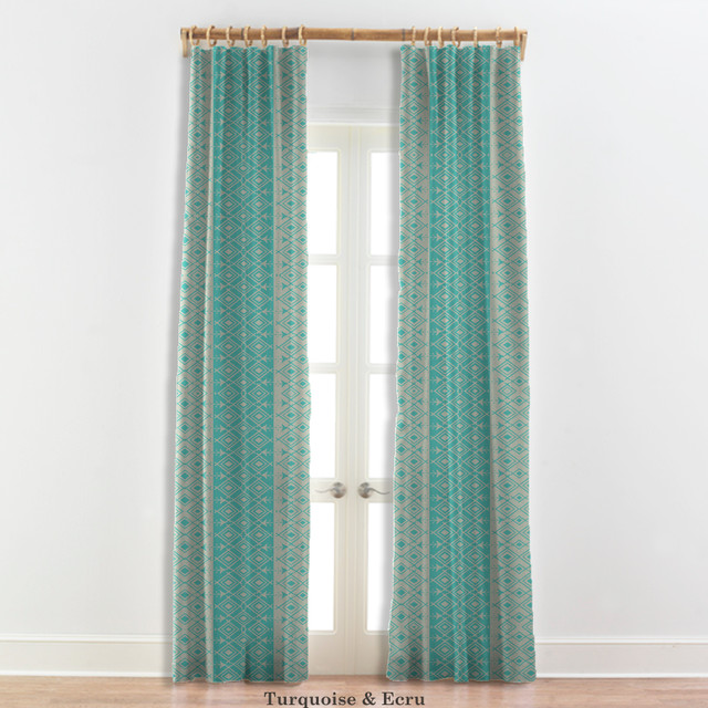 Moroccan curtains in turquoise white 22 other colors - White and turquoise curtains ...