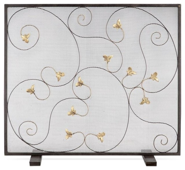 Acanthus Leaf Fireplace Screen.