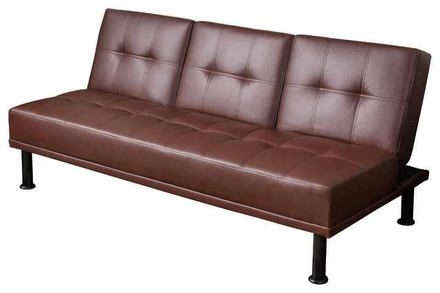 Heston Click Clack Futon 3 Seater Sofa Bed Brown