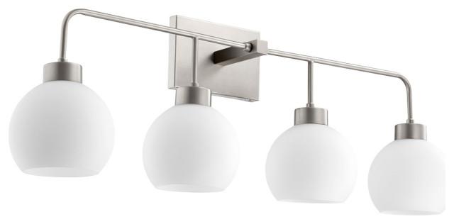 Lacy 4 Light Bathroom Vanity Light in Satin Nickel