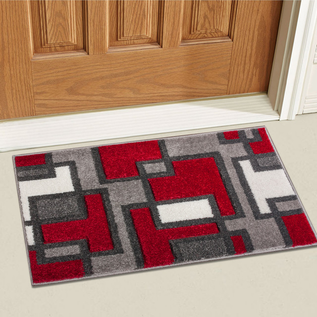 Well Woven Ruby Red Area Rug Contemporary Area Rugs By Well Woven