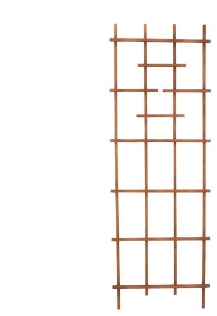"Panacea 82426 Wooden Ladder Trellis, Brown, 72"" Tall."