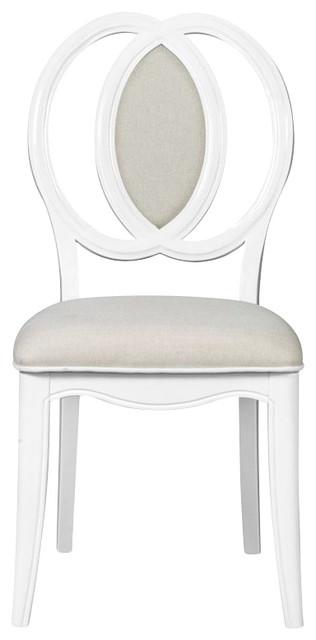 magnussen gabrielle wooden desk chair in snow white chairs