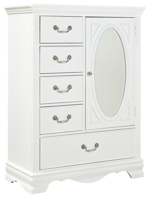 white kids dresser. Standard Furniture Jessica 5-Drawer Kids\u0027 Wardrobe In White Kids Dresser