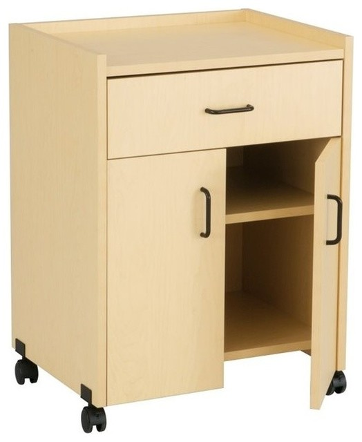 Safco Products Printer Stand With Drawer Kensington Maple Contemporary Office Carts And Stands By Homesquare