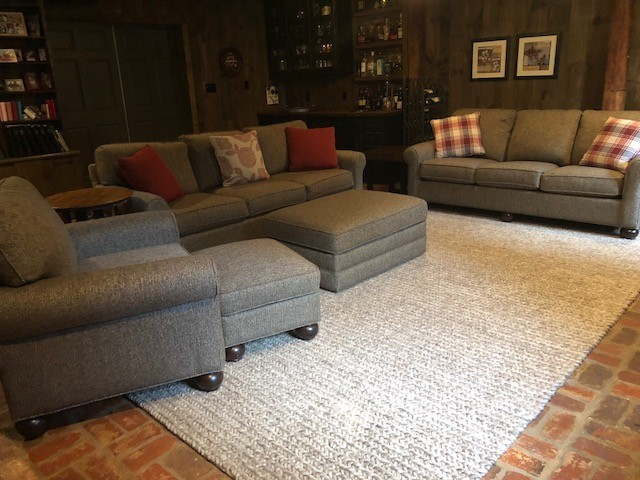 Mountain style living room photo in DC Metro