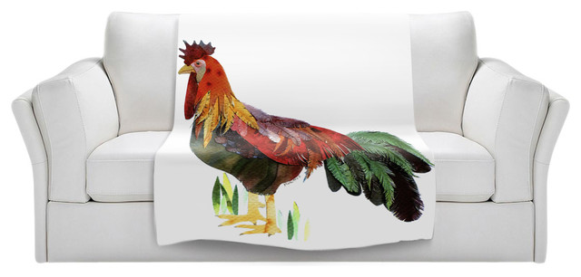 """Rooster Throw Blanket, 40""""x30""""."""