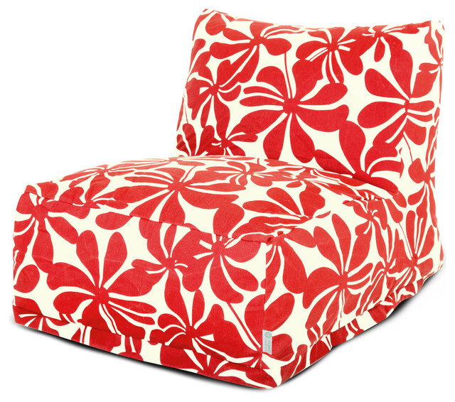 Red Plantation Bean Bag Chair Lounger.