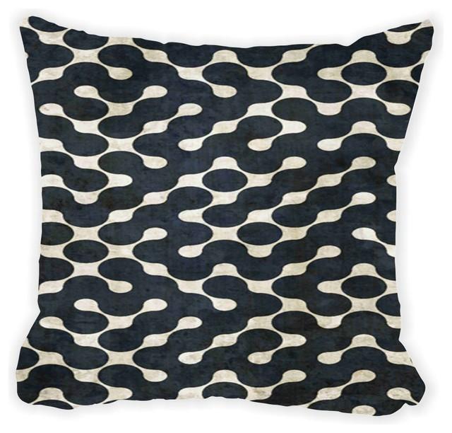 Grunge Dark Green On Beige Maze Microfiber Throw Pillow - Contemporary - Decorative Pillows - by ...