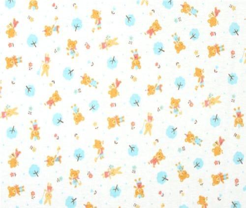 cute teddy bear Jersey Kokka Fabric from Japan kawaii