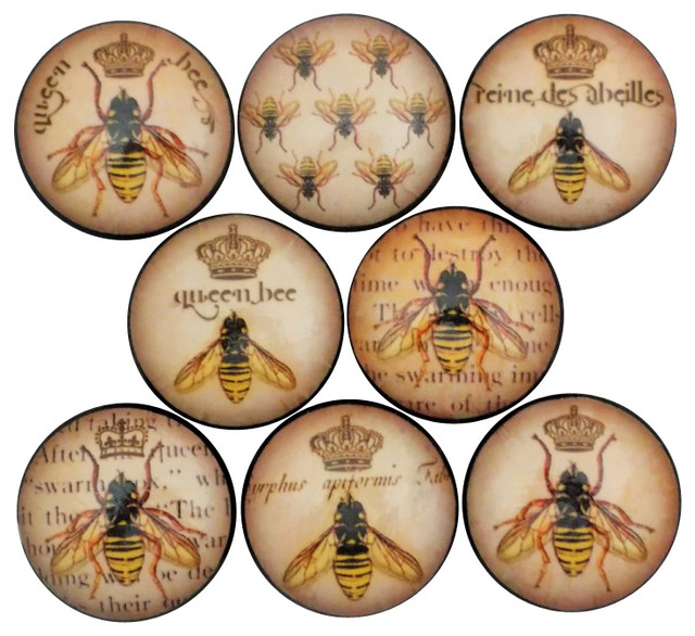 Queen Bee Cabinet Knobs, 8-Piece Set - Traditional - Cabinet And ...