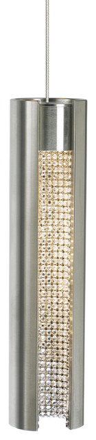 Dolly Low-Voltage Led Pendant, Satin Nickel/clear, Mount: Fusion Jack.