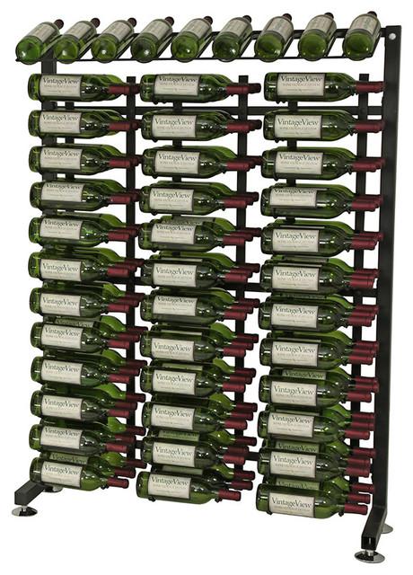 Vintageview 117 Bottle Half Aisle Wine Rack In Satin Black