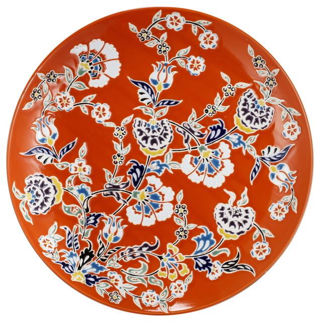 Kathy Ireland Decorative Plate Charger Orange  sc 1 st  Houzz & Kathy Ireland Decorative Plate Charger Orange - Contemporary ...