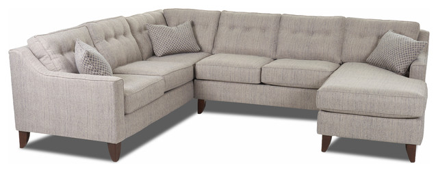 Audrina Sectional transitional-sectional-sofas  sc 1 st  Houzz : transitional sectional sofa - Sectionals, Sofas & Couches