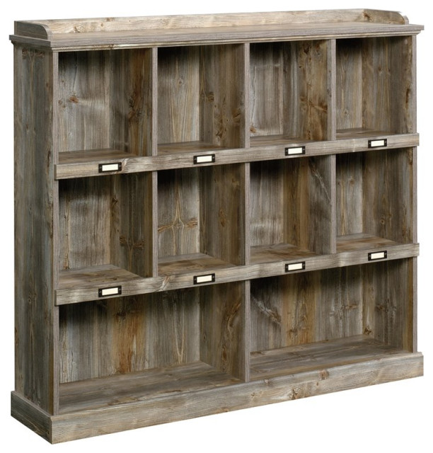 Sauder Granite Trace Contemporary 10-Cubby Wood Bookcase in Rustic Cedar