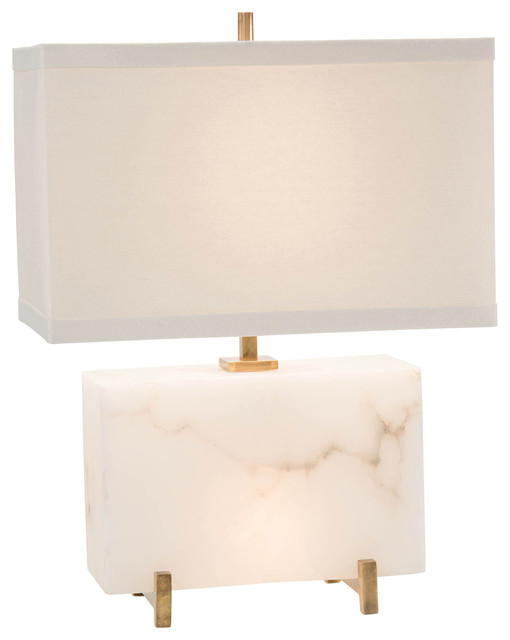 Blair modern classic white alabaster short block table lamp modern blair modern classic white alabaster short block table lamp aloadofball Gallery