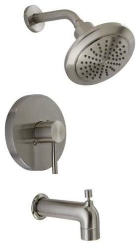 Mirabelle MIRED8030E Edenton Tub and Shower Trim Package, Brushed Nickel