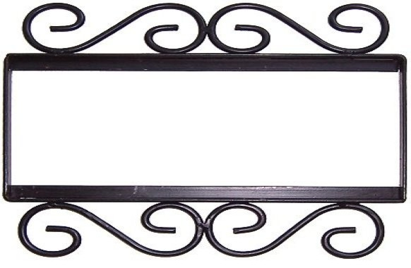 Fine crafts and imports wrought iron house number frame for House number frames