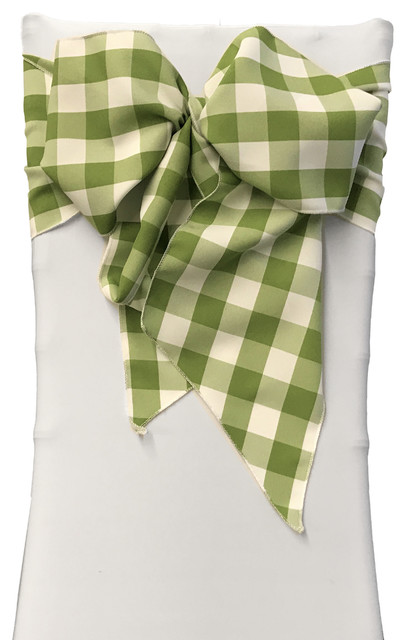 Fabulous La Linen Set Of 10 Gingham Checkered Chair Bows 8X108 White And Apple Andrewgaddart Wooden Chair Designs For Living Room Andrewgaddartcom