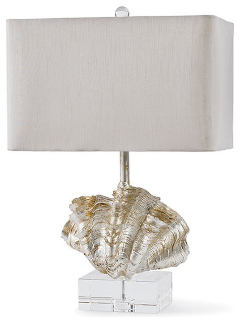 Delicieux Regina Andrew Lighting Giant Clam Shell Table Lamp, Silver