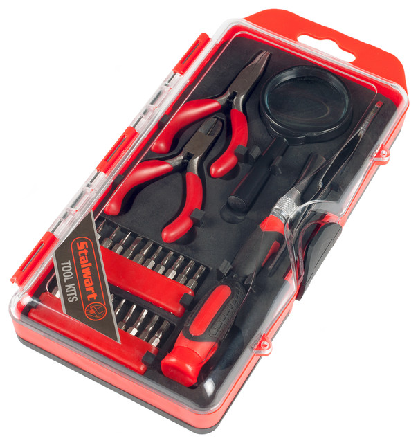 Stalwart Precision Electronics 25-Piece Repair And Hobby Tool Set.