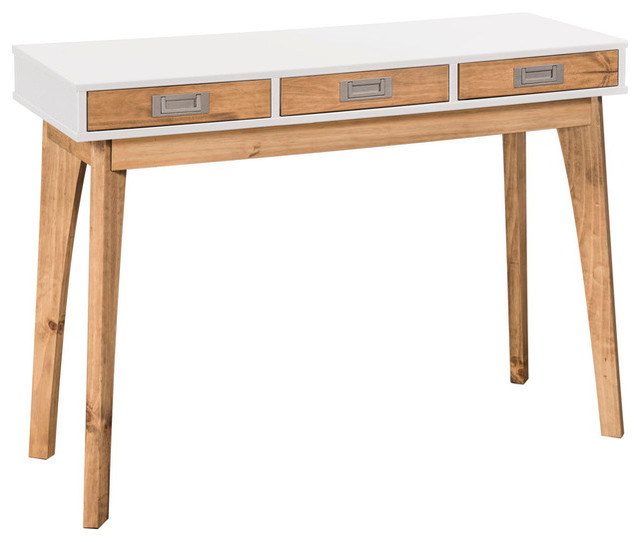buy popular f5312 b2fef Manhattan Comfort Jackie Storage Console Table, White and Natural
