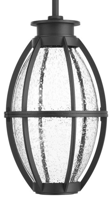 Pier 33 1-Light Outdoor Pendants/chandeliers, Black.