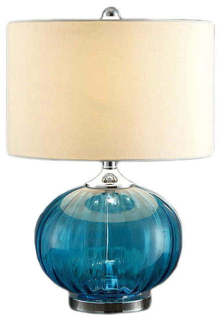 newport glass and metal table lamp sea blue beach style table lamps. Black Bedroom Furniture Sets. Home Design Ideas