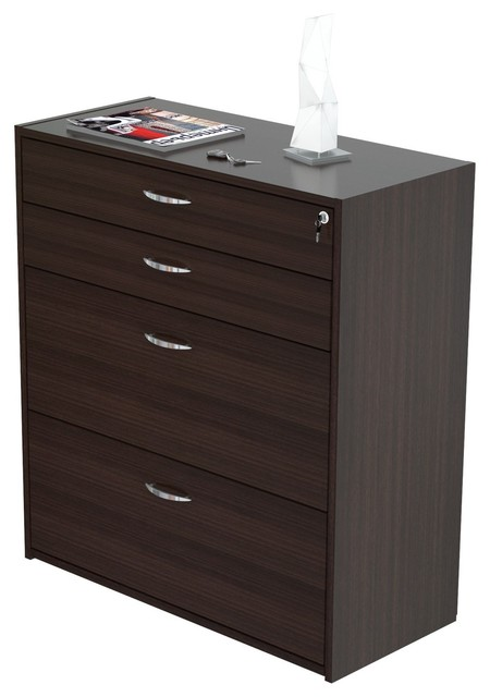 espresso file cabinet inval uffici collection grade file cabinet 15190