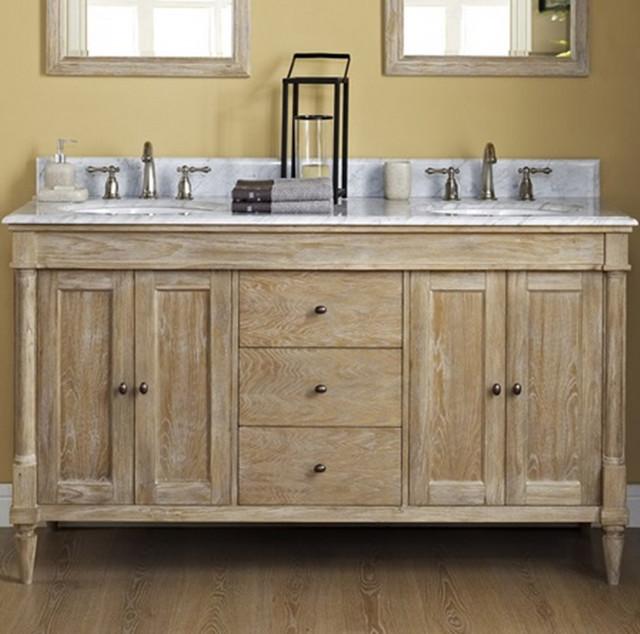 Fairmont Rustic Chic 60 Vanity Only Weathered Oak Rustic Bathroom Vanities And Sink