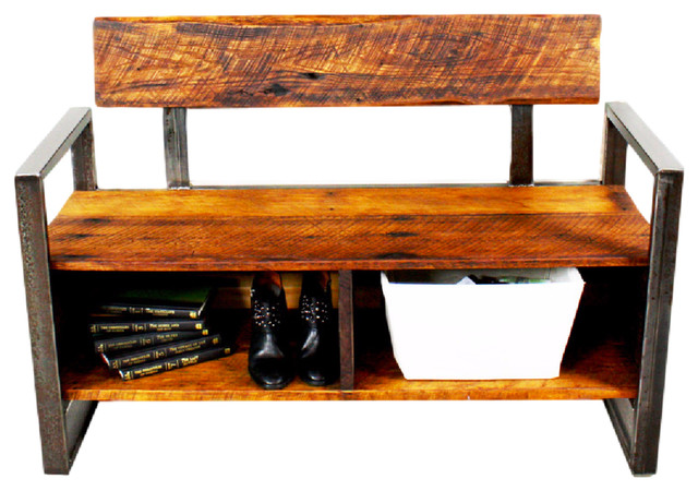 Reclaimed Wood Storage Bench rustic-accent-and-storage-benches - Reclaimed Wood Storage Bench - Rustic - Accent And Storage Benches