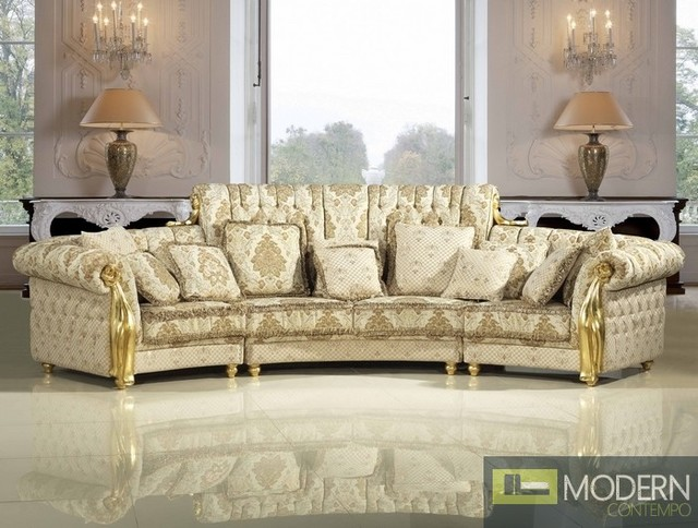 Luxury Traditional Living Room Furniture three piece luxury european sofa set