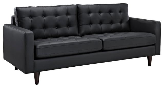 Modway Empress Bonded Leather Sofa Midcentury Sofas By Uber Bazaar