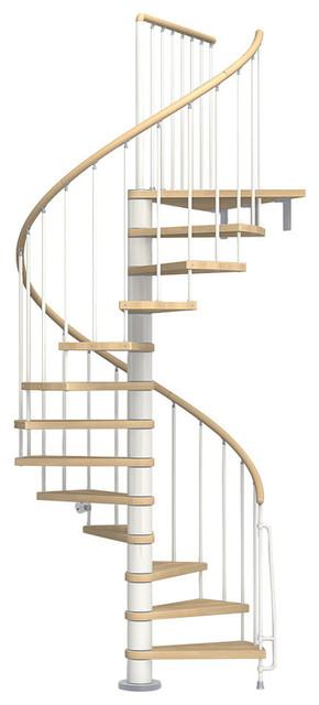 """Axel Spiral Staircase Kit, White, 47""""."""