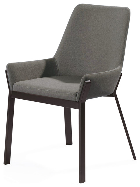 Fabulous Benson Dining Chair Dark Gray Fabric Andrewgaddart Wooden Chair Designs For Living Room Andrewgaddartcom
