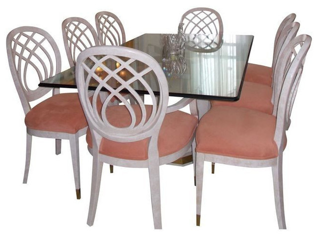 Henredon Glass Top dining table and 8 Chairs - $6,000 Est. Retail ...