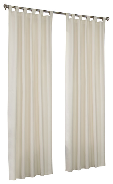 "Thermalogic Prescott Tab Top Panels, Set Of 2, Ivory, 40""x63""."