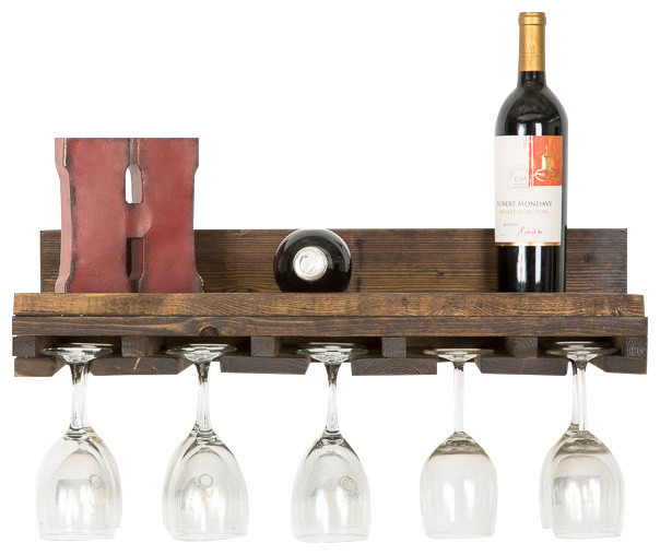 Shop Houzz | (del)Hutson Designs Rustic Luxe Tiered Glass Rack, 1 Glass Holder - Wine Racks