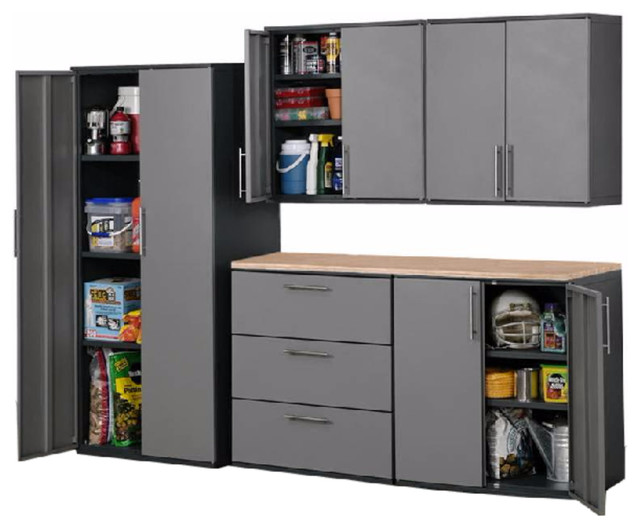 Charmant Stack On Garage Cabinets Designs