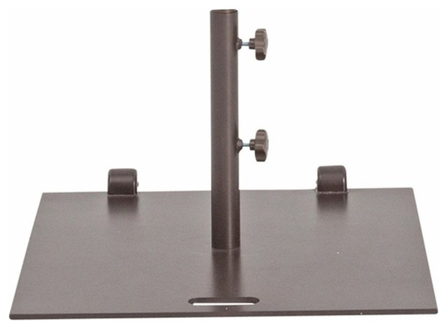 Square Market Umbrella Base Stand With Wheels