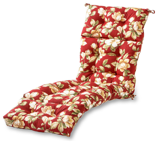 Outdoor 72 in. Chaise Lounger Cushion, Roma Floral