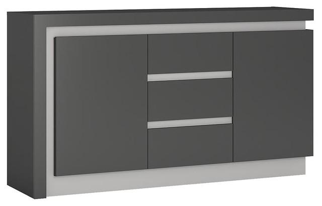 Lyon Grey 2-Door Sideboard With LED Lighting